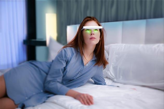 Appareil de luminothérapie mobile pour faire sa séance en restant actif comme avec les lunettes de luminothérapie mobile sun activ ou luminette.